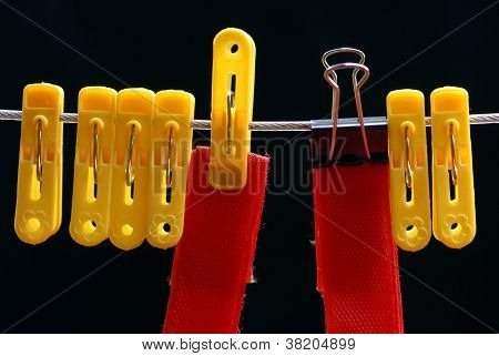 Clothespin And Small Binder Clip