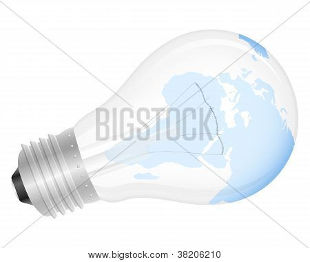 Light Bulb World Map