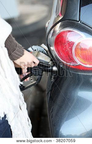 Car Being Refuelled With Petrol Or Diesel
