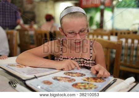 Girl Choosing Dish