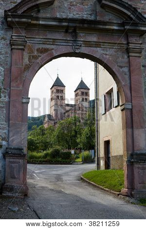 The Main Gate To Murbach Abbey In France