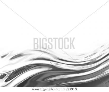 Flowing Chrome Or Metallic Background