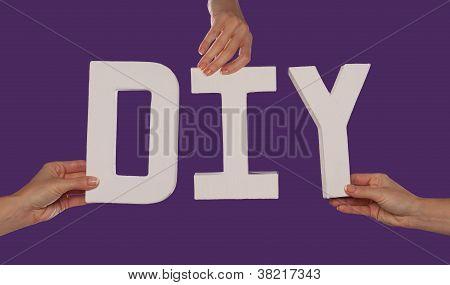 Weiße Alphabet Schriftzug Rechtschreibung Diy
