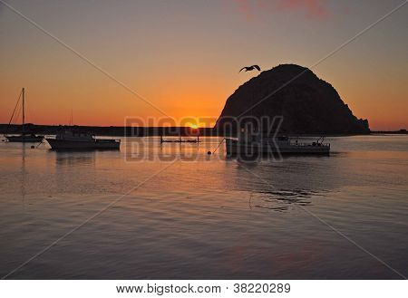 The Sun Sets on Morro Bay, California