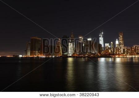 View Of Downtown Manhattan Following Hurricane Sandy And Power Outage.