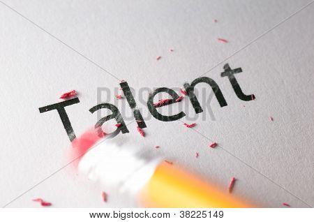 Erasing Talent