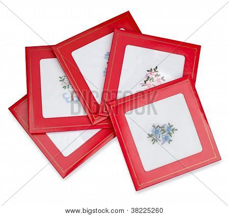 Set of many handkerchiefs