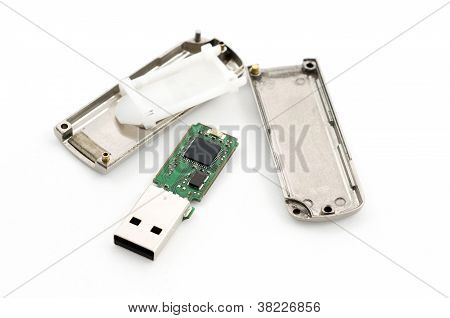 Crashed Usb Flash Memory