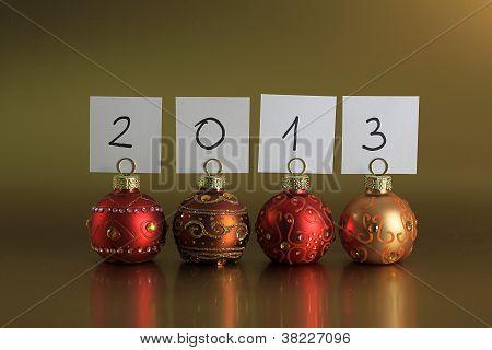 Año 2012 de bolas de la Navidad