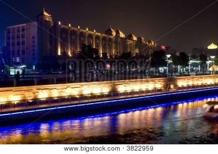 Night Cityscape With Haohe River