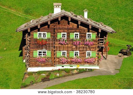 typical wooden House,Austria