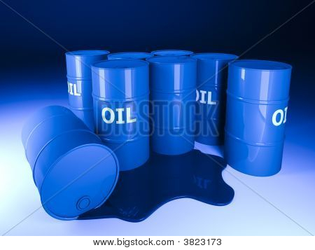 Barrel Oil Background