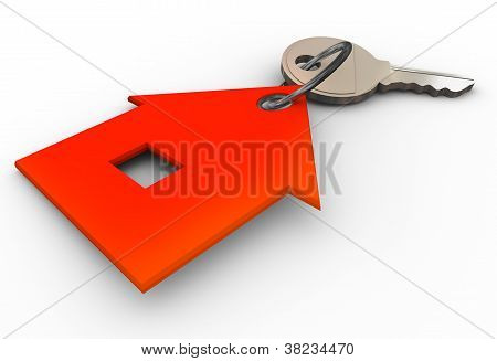 3D House Key Chain