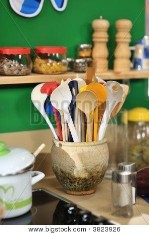 Scoops In A Ceramic Bowl