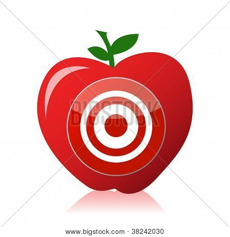 Apple Target Illustration Design