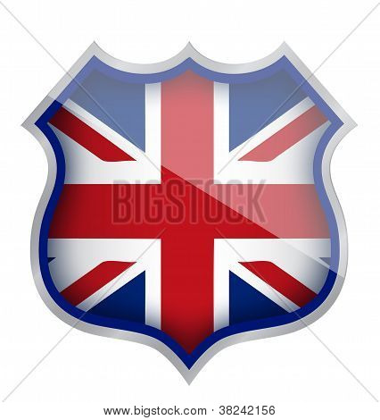 Uk England Shield Illustration Design