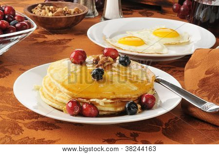 Pancakes With Berries And Walnuts