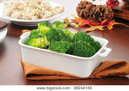 Serving Dish Of Broccoli