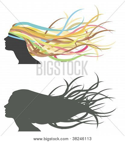 Fluttering Hair On Woman Dummy.