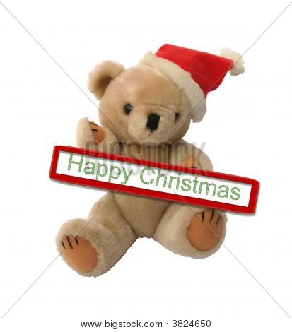 Happy Christmas, Santa Teddy Bear