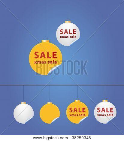 Christmas balls - sale sticker