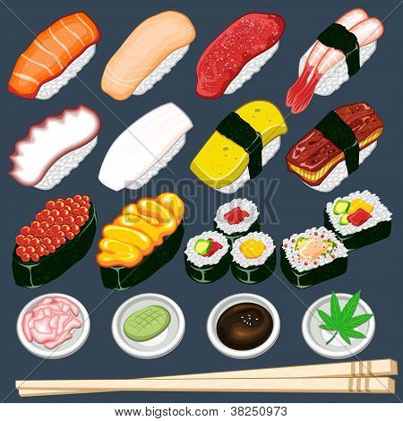 Japanese Sushi Collection Set