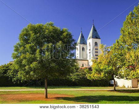 Towers Of The Church Of St. James In Medjugorje, Bosnia And Herzegovina,