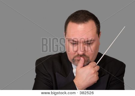 Orchestra Conductor Deep In Thought