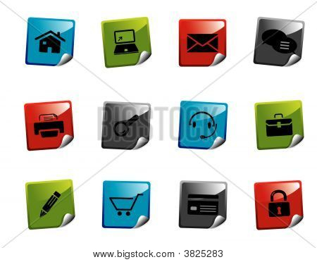 Web Icons Sticker Series