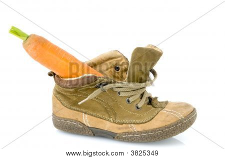 Shoe With Carrot For Sinterklaas