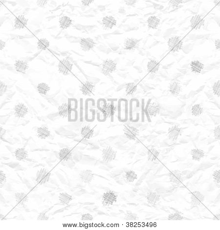 Seamless Crumpled Paper Texture With Polka Dots