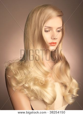 Beautiful Lady With Magnificent Hair