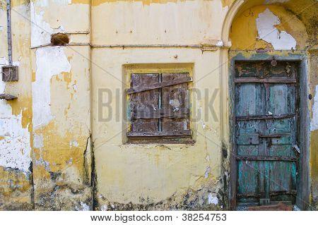 Boarded up Window and Door