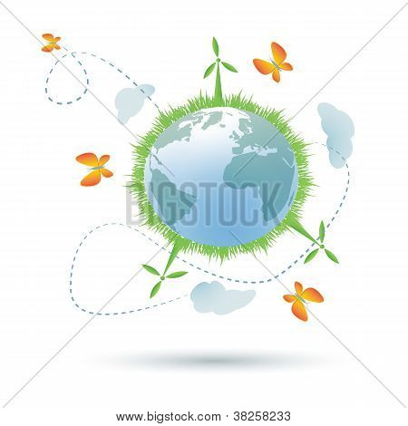 Eco-planet symbool