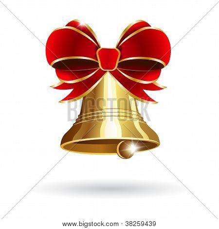 Jingle Bell With Red Bow