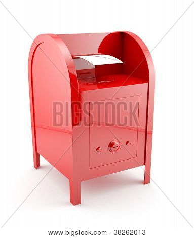 Red Mailbox With Envelope