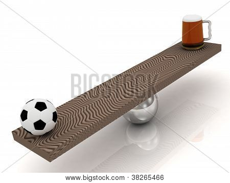 Balance Of Football And Beer