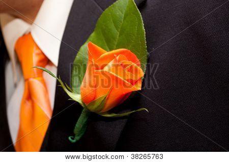Orange Boutineer