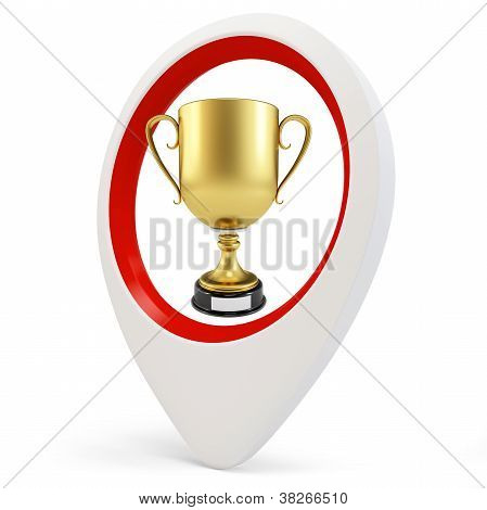 3D Round Pointer With Gold Cup