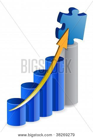 Business Puzzle Graph Illustration