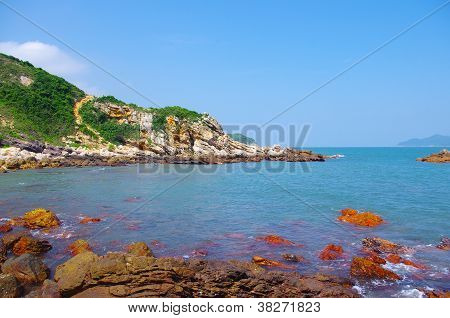 beautiful byland of seaside at south chinese ocean