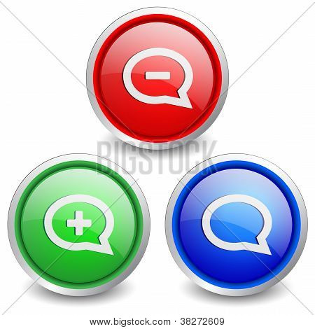 Set of 3 popular buttons - cloud