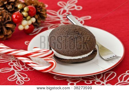 Holiday whoopie pie
