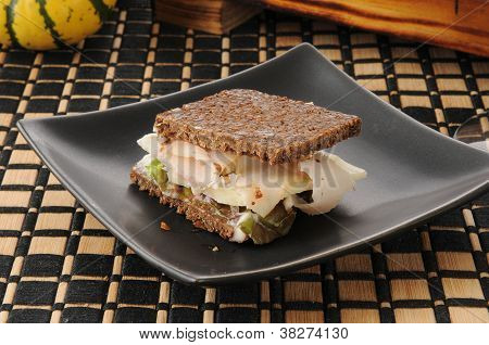 Pumpernickel Mini Sandwich