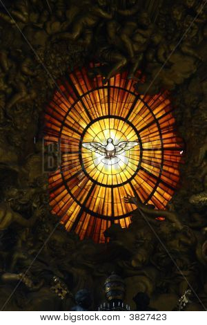The Window Of A Cathedral Of St Peter In Vatican