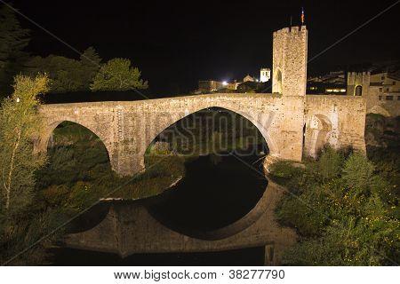 Medieval Bridge in the City of Besalu