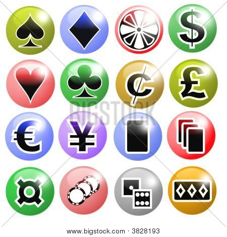 Ícones de jogos de azar