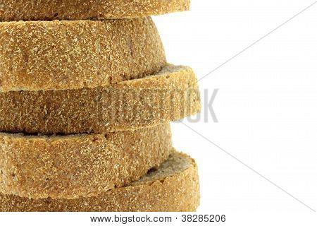 Pyramid of bread pieces