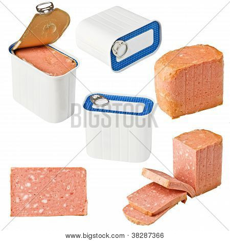 Collection Of Canned Meat