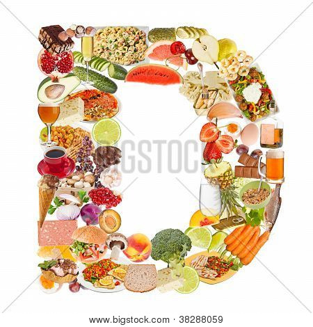 Letter D Made Of Food